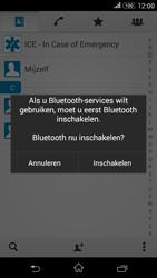 Sony E2003 Xperia E4G - Contactgegevens overzetten - delen via Bluetooth - Stap 10