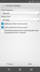 Sony D5803 Xperia Z3 Compact - E-mail - Manual configuration (yahoo) - Step 7