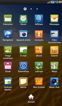 Samsung P1000 Galaxy Tab - SMS - Configuration manuelle - Étape 3