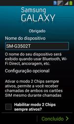 Samsung SM-G3502T Galaxy Core Plus Duo TV - Primeiros passos - Como ativar seu aparelho - Etapa 15