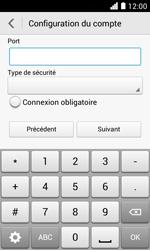Huawei Ascend Y330 - E-mail - Configuration manuelle - Étape 16