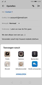 Huawei Mate 10 Pro Dual-SIM (Model BLA-L29) - Android Pie - E-mail - Bericht met attachment versturen - Stap 10