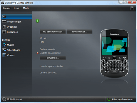 BlackBerry 9900 Bold Touch - Software - Installeer firmware update - Stap 6