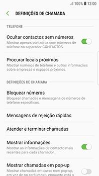 Samsung Galaxy S7 Edge - Android Oreo - Chamadas - Como bloquear chamadas de um número -  6