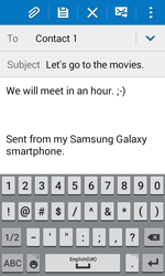 Samsung J100H Galaxy J1 - Email - Sending an email message - Step 10