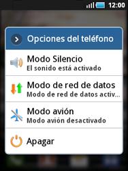 Samsung S5570 Galaxy Mini - Funciones básicas - Activar o desactivar el modo avión - Paso 3