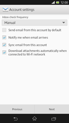 Sony C6603 Xperia Z - Email - Manual configuration - Step 13