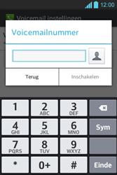 LG E610 Optimus L5 - Voicemail - Handmatig instellen - Stap 7
