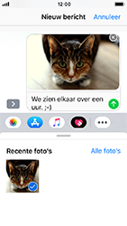 Apple iPhone 5s - iOS 12 - MMS - hoe te versturen - Stap 12