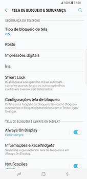 Samsung Galaxy S8 Plus - Segurança - Como ativar o código de bloqueio do ecrã -  13