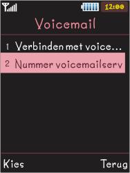 Samsung S5050 Allure S - Voicemail - Handmatig instellen - Stap 6
