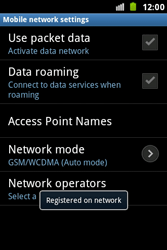 Samsung S7500 Galaxy Ace Plus - Network - Usage across the border - Step 10