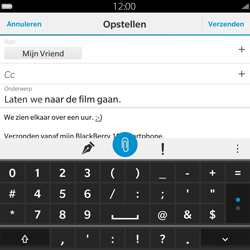 BlackBerry Passport - E-mail - Hoe te versturen - Stap 12