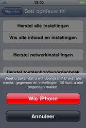 Apple iPhone 4 - Toestel reset - terugzetten naar fabrieksinstellingen - Stap 7