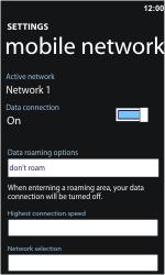 Nokia Lumia 900 - Network - Usage across the border - Step 10