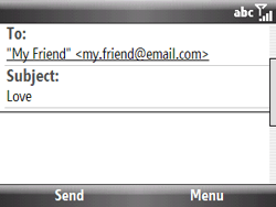 HTC S521 Snap - E-mail - Sending emails - Step 8