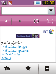 Samsung S7070 Diva - Internet - Internet browsing - Step 11