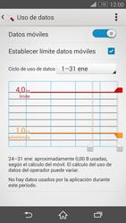 Sony Xperia Z3 - Internet - Ver uso de datos - Paso 11