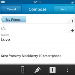 BlackBerry Q5 - Email - Sending an email message - Step 10