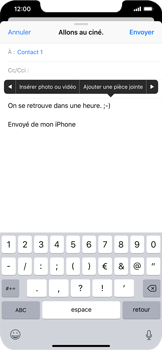Apple iPhone XS Max - E-mail - envoyer un e-mail - Étape 9
