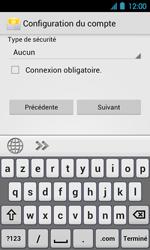 Acer Liquid Glow E330 - E-mail - Configuration manuelle - Étape 12