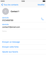 Apple iPhone 6s Plus - Contact, Appels, SMS/MMS - Ajouter un contact - Étape 13