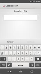 Sony Xperia M2 - Segurança - Como ativar o código de bloqueio do ecrã -  7