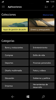 Microsoft Lumia 950 XL - Aplicaciones - Descargar aplicaciones - Paso 12