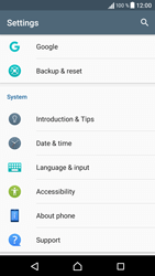 Sony Sony Xperia X (F5121) - Device - Reset to factory settings - Step 5