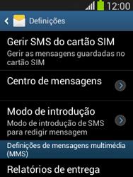 Samsung Galaxy Pocket Neo - SMS - Como configurar o centro de mensagens -  6
