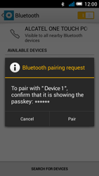 Alcatel OT-5036X Pop C5 - Bluetooth - Pair with another device - Step 7
