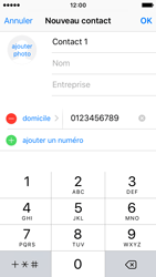 Apple iPhone SE - Contact, Appels, SMS/MMS - Ajouter un contact - Étape 9