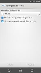 Sony Xperia M2 - Email - Configurar a conta de Email -  17
