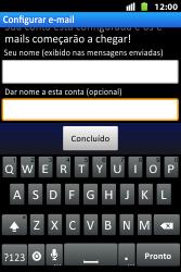 Huawei U8667 - Email - Como configurar seu celular para receber e enviar e-mails - Etapa 18
