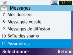 Samsung S3570 Chat 357 - Messagerie vocale - configuration manuelle - Étape 5
