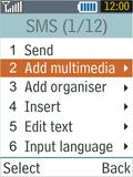 Samsung B2100 Xplorer - MMS - Sending pictures - Step 8