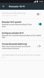 Motorola Moto C Plus - Wi-Fi - Como usar seu aparelho como um roteador de rede wi-fi - Etapa 9
