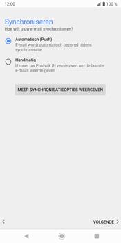 Sony Xperia XZ3 - E-mail - e-mail instellen: IMAP (aanbevolen) - Stap 20