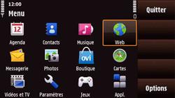Nokia N97 Mini - Internet - Navigation sur internet - Étape 2
