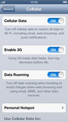 Apple iPhone 5 - Internet - Usage across the border - Step 5