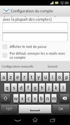 Sony C1905 Xperia M - E-mail - Configuration manuelle - Étape 6