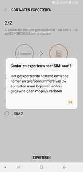Samsung galaxy-a6-plus-sm-a605fn-ds - Contacten en data - Contacten kopiëren van toestel naar SIM - Stap 13