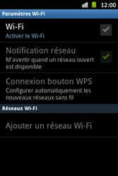 Samsung S6500D Galaxy Mini 2 - Wifi - configuration manuelle - Étape 4