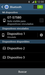 Samsung S7580 Galaxy Trend Plus - Bluetooth - Conectar dispositivos a través de Bluetooth - Paso 8