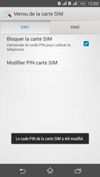 Sony Xperia E4g - Sécuriser votre mobile - Personnaliser le code PIN de votre carte SIM - Étape 11