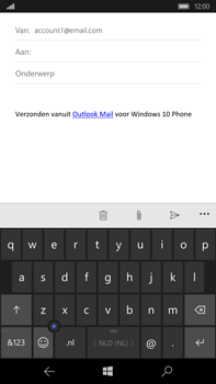 Microsoft Lumia 950 XL - E-mail - e-mail versturen - Stap 4