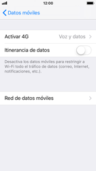 Apple iPhone 5s - iOS 11 - Red - Seleccionar el tipo de red - Paso 5