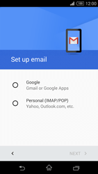Sony D5803 Xperia Z3 Compact - E-mail - Manual configuration (gmail) - Step 7