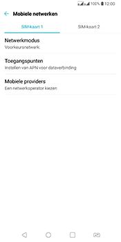 LG Q7 - Netwerk selecteren - Handmatig een netwerk selecteren - Stap 6