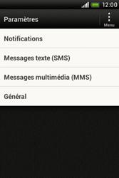 HTC A320e Desire C - SMS - configuration manuelle - Étape 4
